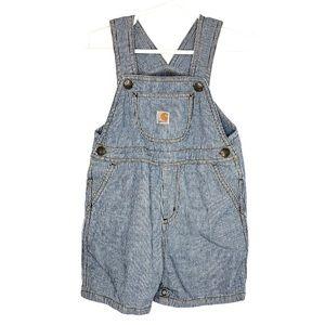 Carhartt Infant Overalls Shorts Pinstripe Denim